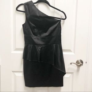 GUESS BY MARCIANO Frankie BLACK One shoulder dress